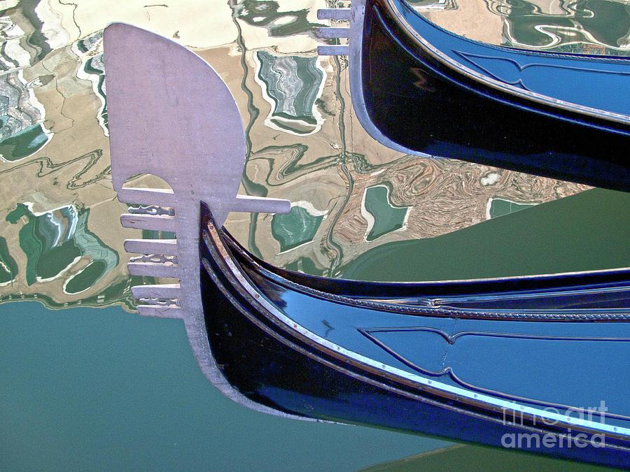 Venice Photograph - Venice Gondolas by Heiko Koehrer-Wagner