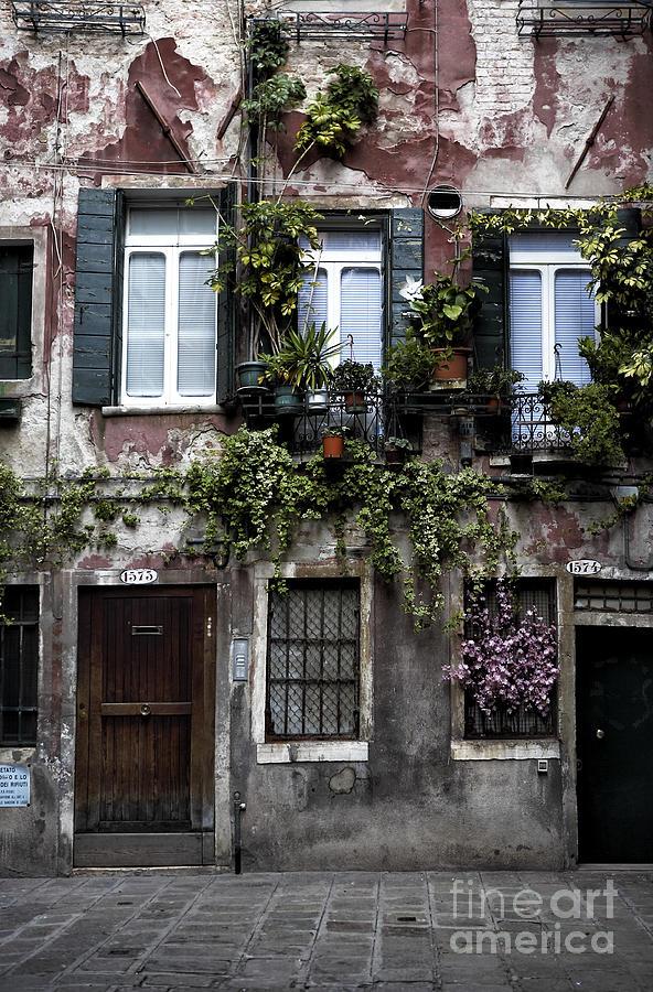 Old World Photograph - Venice House I by John Rizzuto