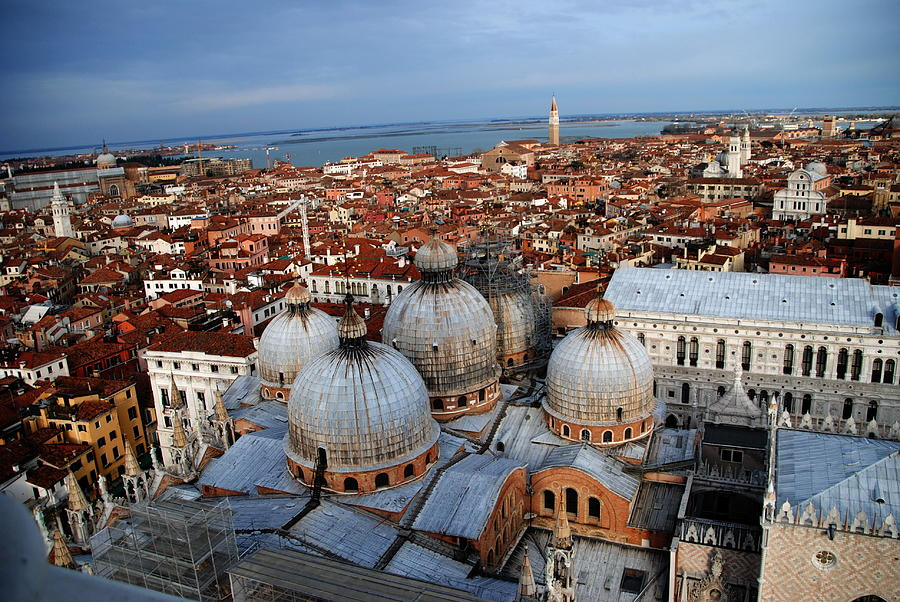 Byzantine Domes Photograph - Venice In Glory by Jacqueline M Lewis