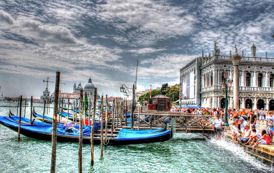 Venice Gondola Photograph - Venice  by Ines Bolasini