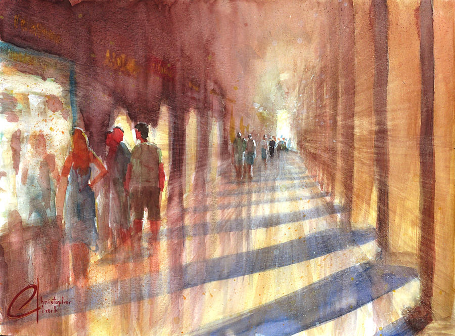 Venice Italy Shopping Downtown Painting By Christopher Clark
