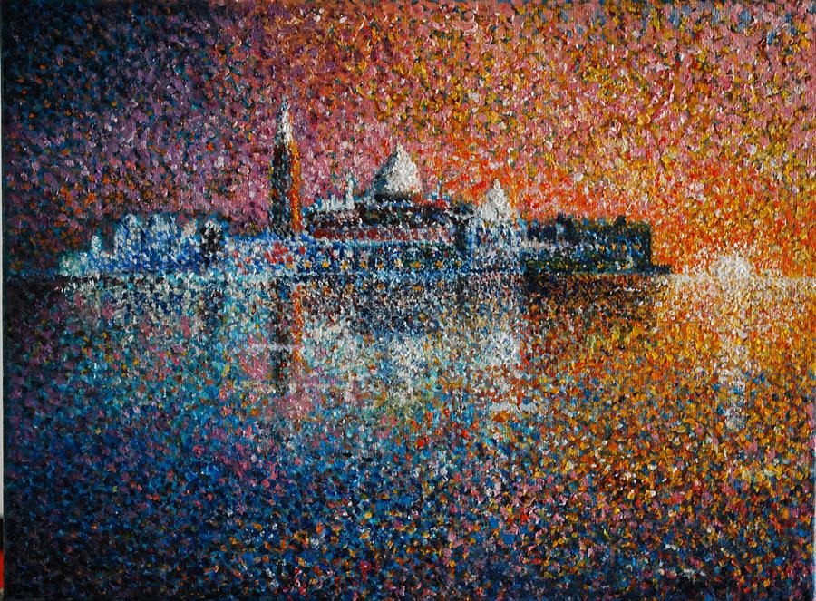 Landscape Painting - Venice Jewel Of The Adriatic by Les Conroy