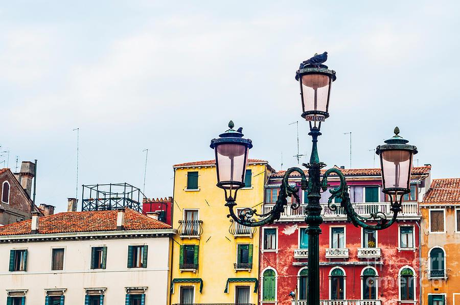 Lamp Photograph - Venice Lamp by Luis Alvarenga