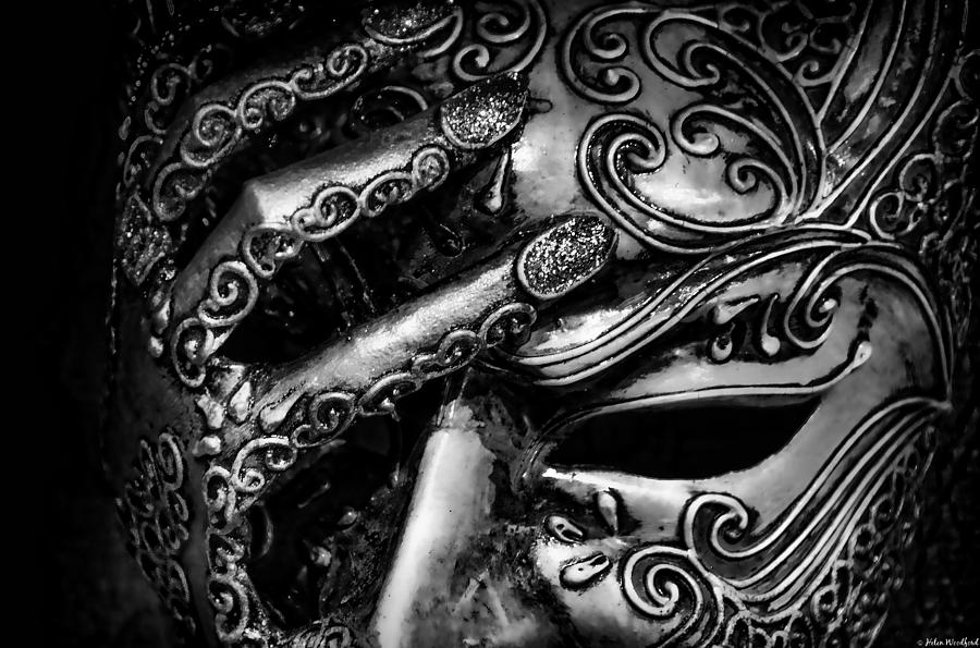 venice mask photograph by helen woodford