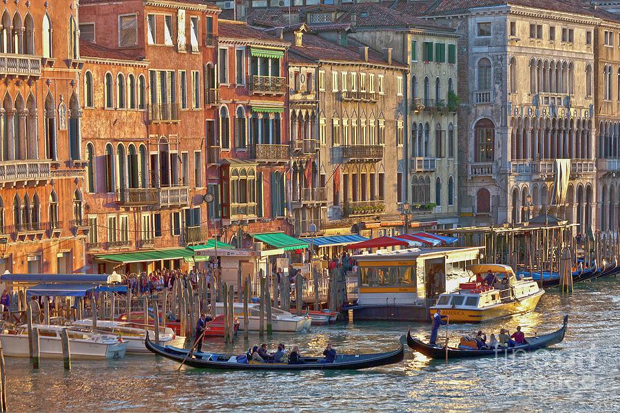 Venice Photograph - Venice Palazzi At Sundown by Heiko Koehrer-Wagner