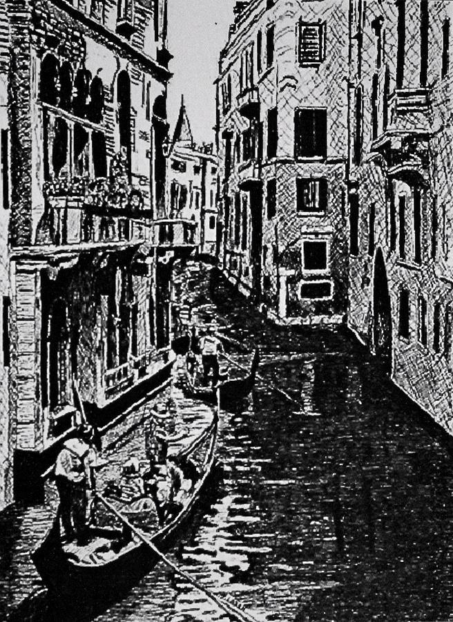 Venice Drawing - Venice by Patricio Lazen