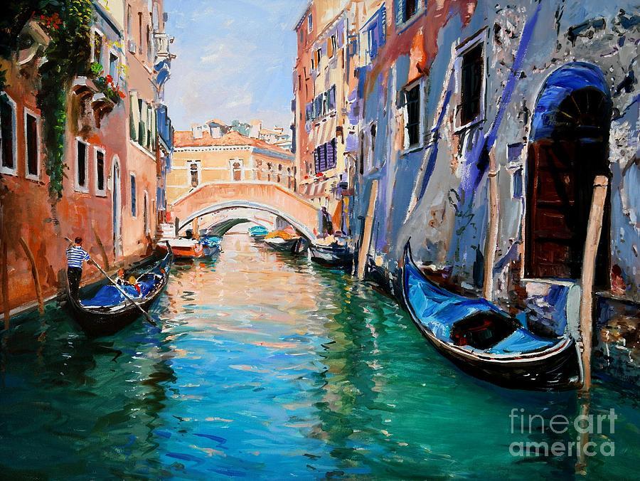 Italy Painting - Venice by Sefedin Stafa