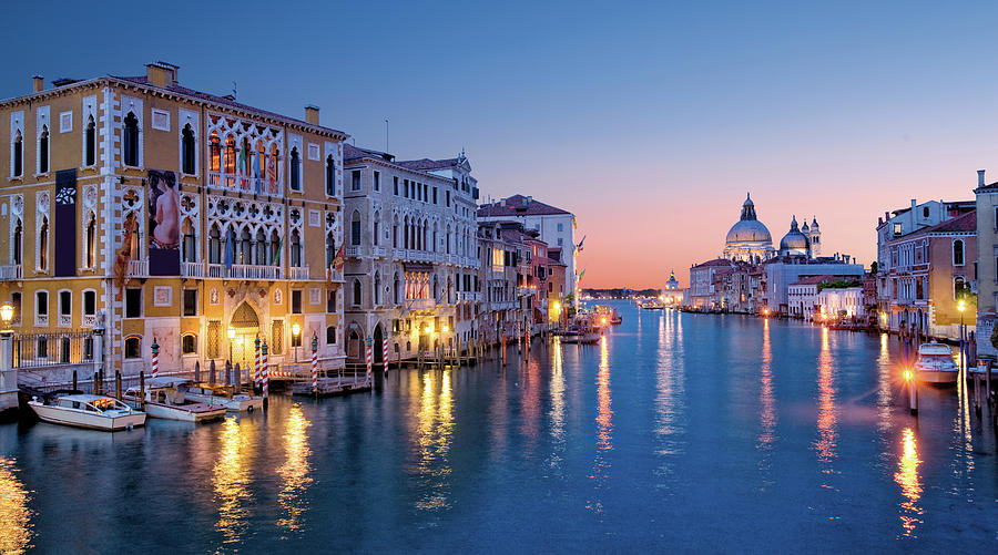 Venice Skyline At Dusk Photograph by Visions Of Our Land