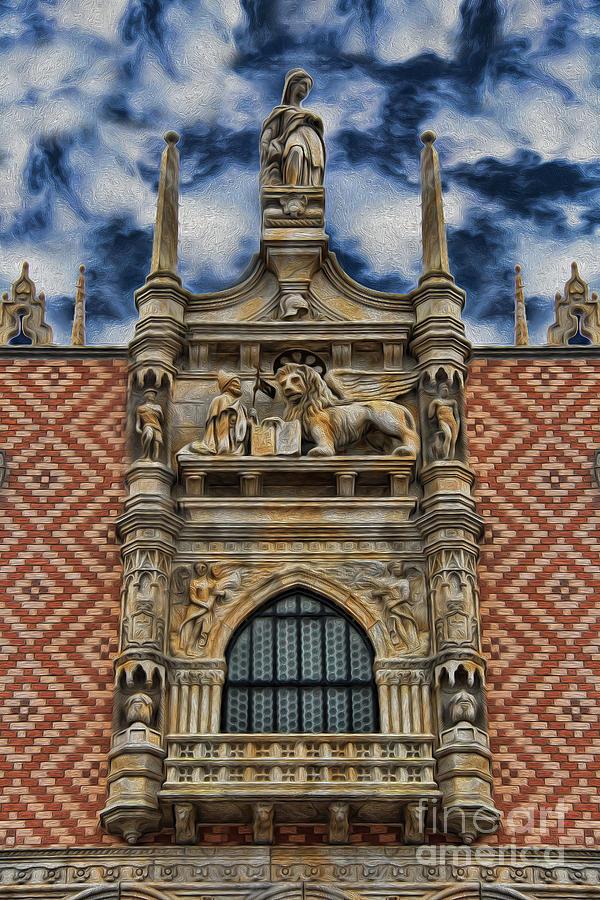 Saint Mark's Basilica Photograph - Venice - The Lion Of Saint Mark by Lee Dos Santos