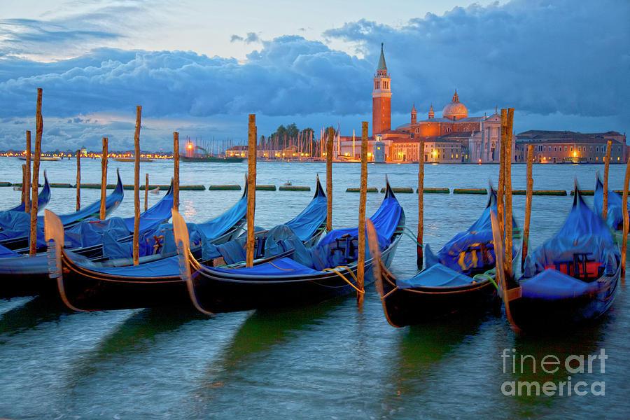 Venice Photograph - Venice View To San Giorgio Maggiore by Heiko Koehrer-Wagner