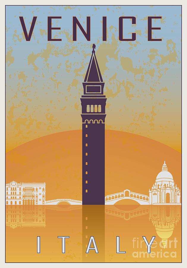 Venice Vintage Poster 02 Digital Art