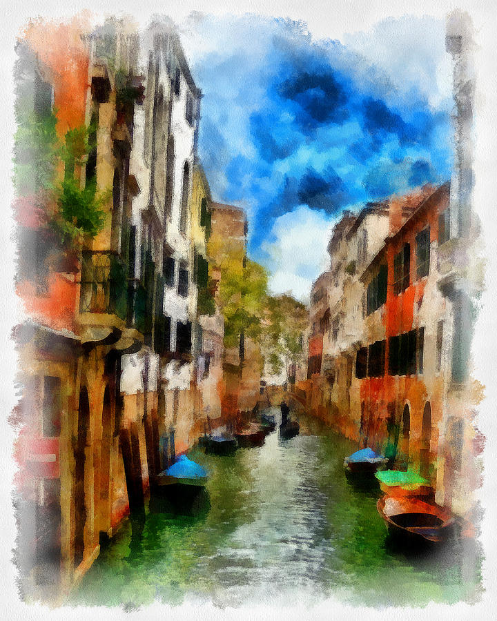 Venice Digital Art - Venice Watercolor by Cary Shapiro
