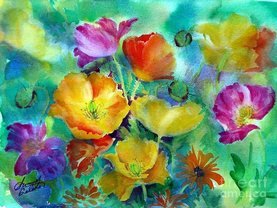 Ventana Poppies by Summer Celeste