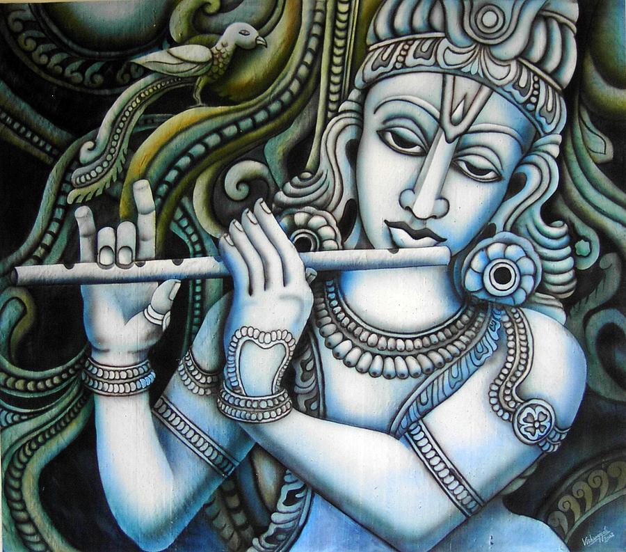 Krishna Painting - Venugopala by Vishwajyoti Mohrhoff
