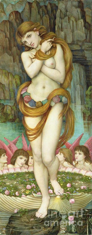 Pre-raphaelite Painting - Venus by John Roddam Spencer Stanhope