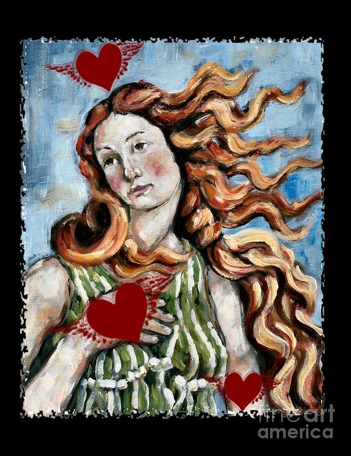 Venus Painting - Venus On The Wing by Carrie Joy Byrnes