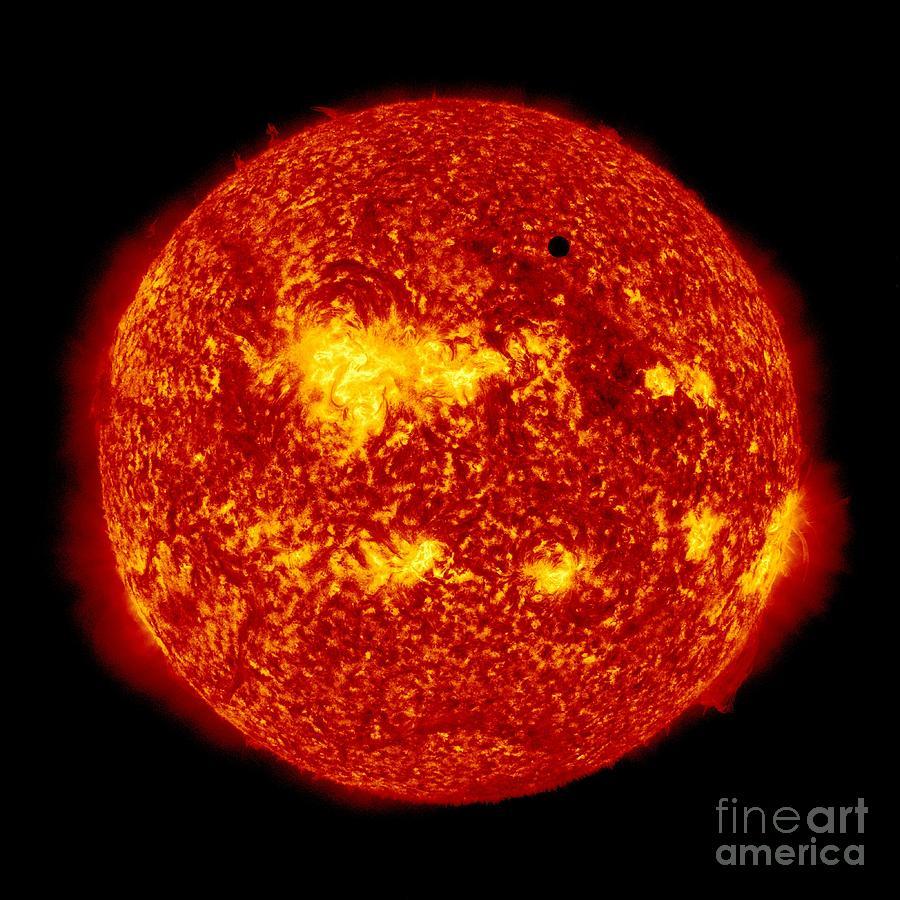 Venus Photograph - Venus Transit by NASA and Photo Researchers