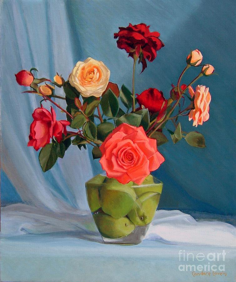 Roses Painting - Venuss Bouquet by Candace Lovely