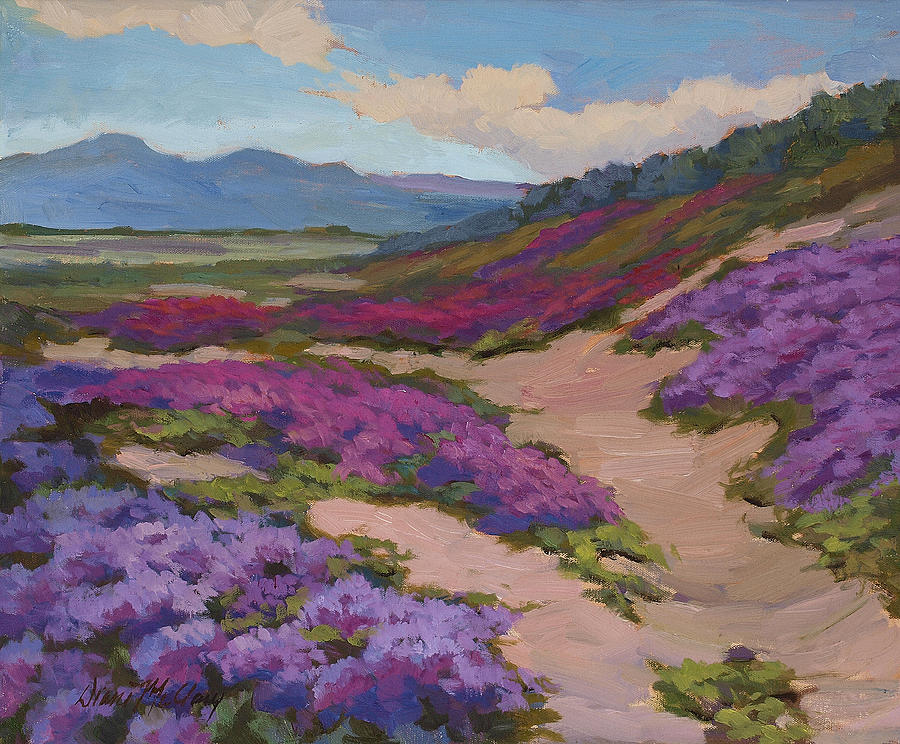 Verbena Painting - Verbena Harmony In Purple by Diane McClary