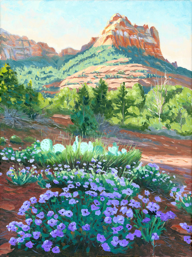 Verbena In Bloom Painting