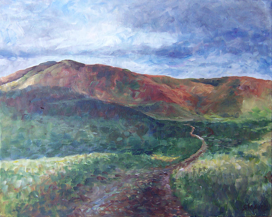 Lanscape Painting - Verde by Susan Moore