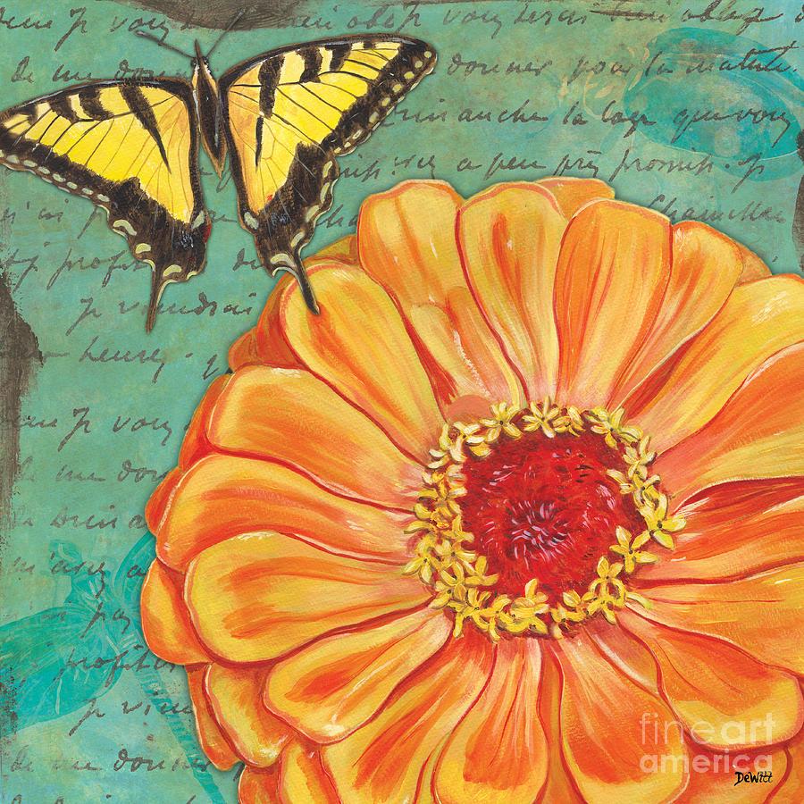 Floral Painting - Verdigris Floral 1 by Debbie DeWitt