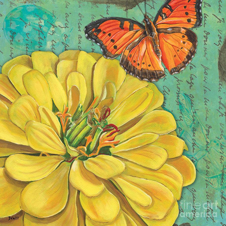 Floral Painting - Verdigris Floral 2 by Debbie DeWitt
