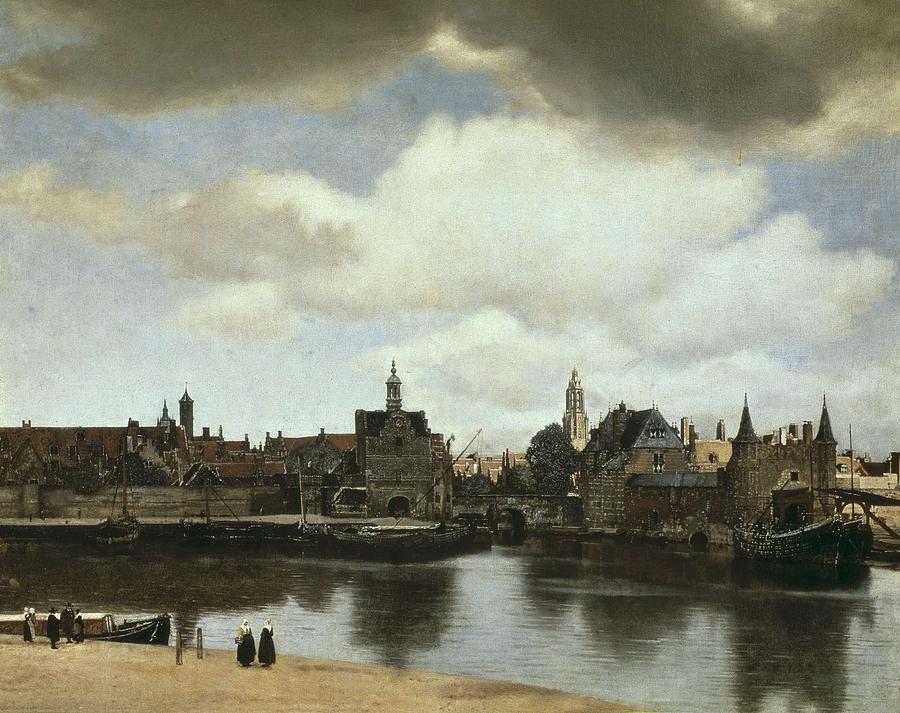 Horizontal Photograph - Vermeer, Johannes 1632-1675. View by Everett