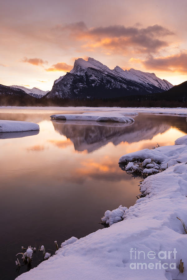 Banff Photograph - Vermillion Lakes In Banff National Park by Ginevre Smith