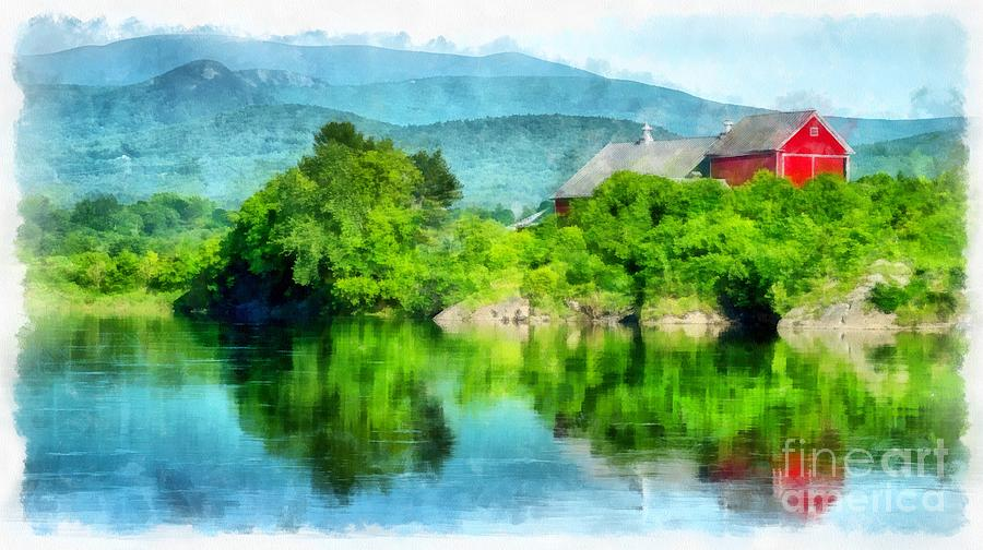 Upper Photograph - Vermont Farm Along The Connecticut River by Edward Fielding