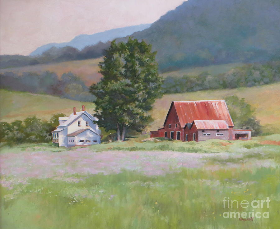 Mountains Painting - Vermont  Summer Farm by Karol Wyckoff