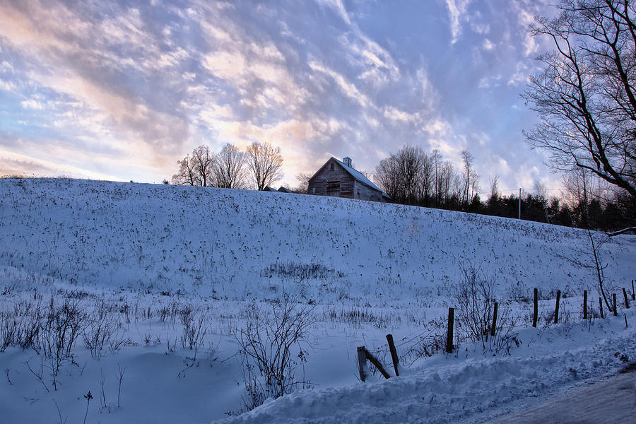 Vermont Winter Hill Photograph By Tom Singleton