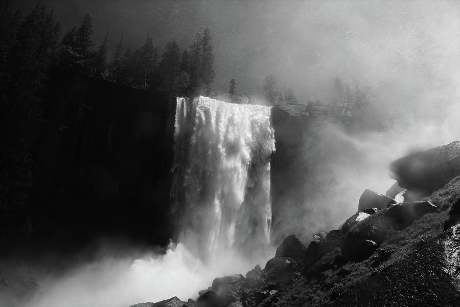Falls Photograph - Vernal Fall by Raymond Salani Iii