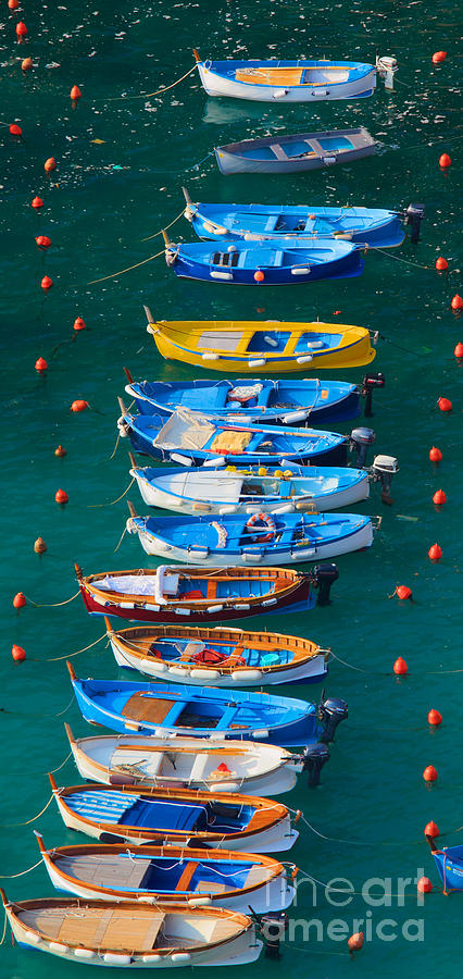 Cinque Terre Photograph - Vernazza Armada by Inge Johnsson