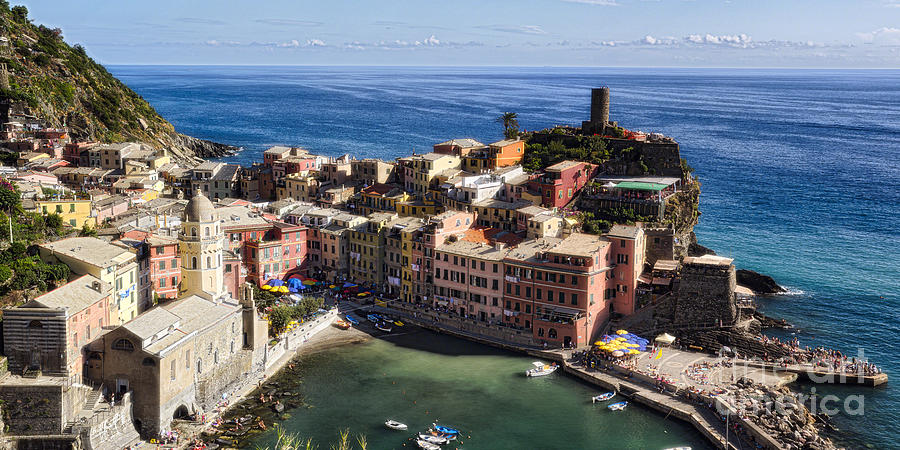 Cinque Terre Photograph - Vernazza From Above by George Oze