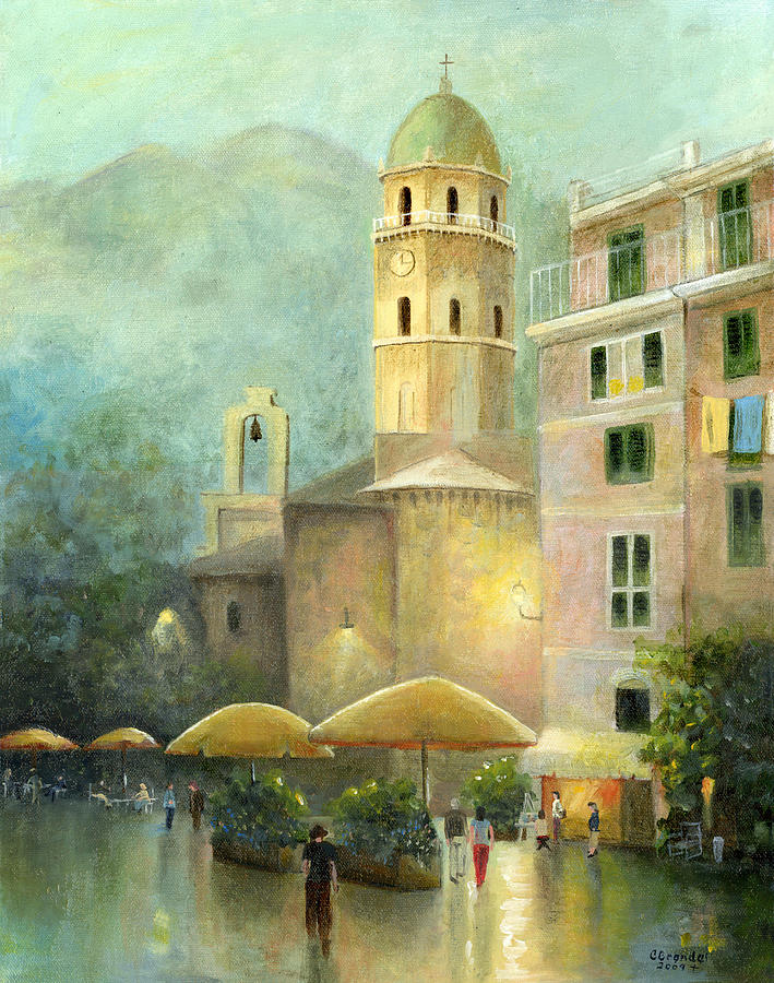 Italy Painting - Vernazza Italy by Cecilia Brendel