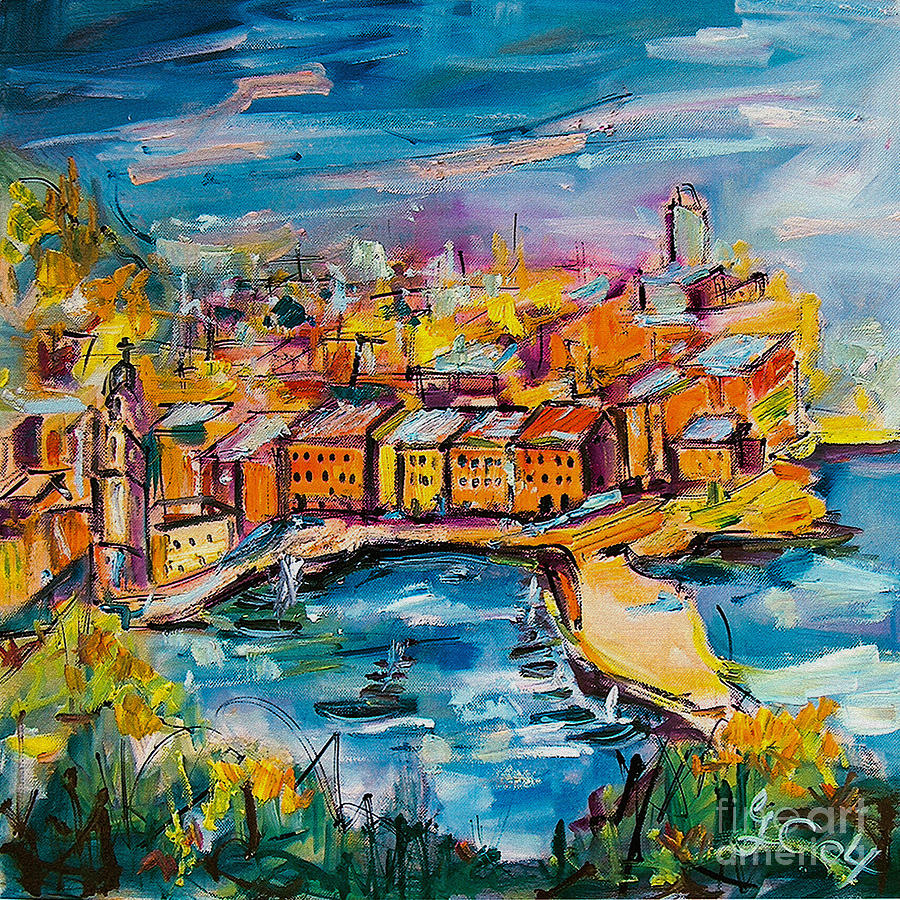 Vernazza Italy Cinque Terre by Ginette Callaway