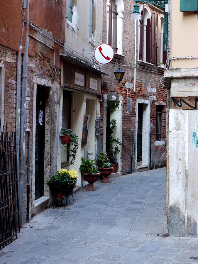 Street Photograph - Venetian Alleyway by Rae Tucker