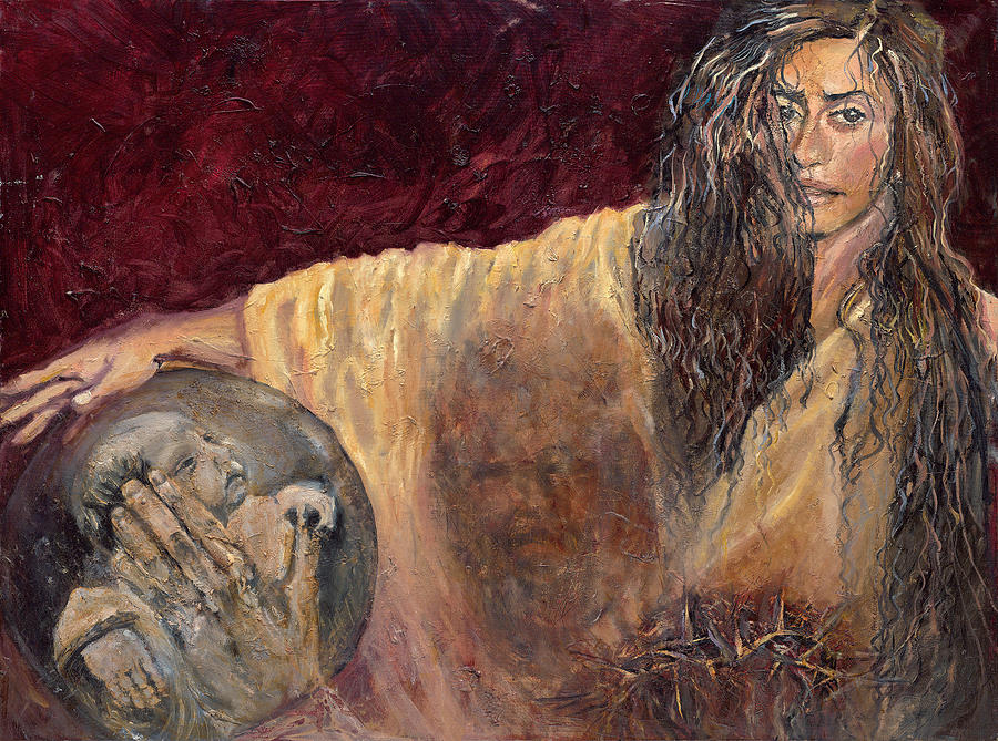 Veronica Wipes the Face of Jesus by Patricia Trudeau