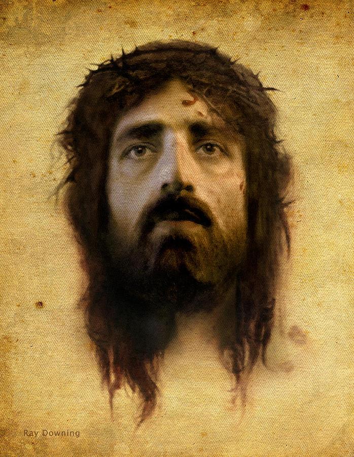 Jesus Digital Art - Veronicas Veil by Ray Downing
