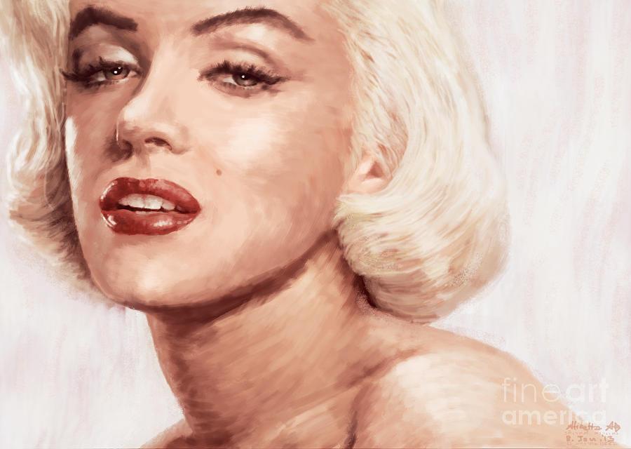 1950s Painting - Very Beautiful by Atiketta Sangasaeng