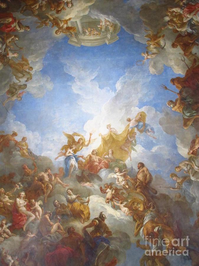 Versailles Photograph - Versailles Ceiling Mural by Luis Moya