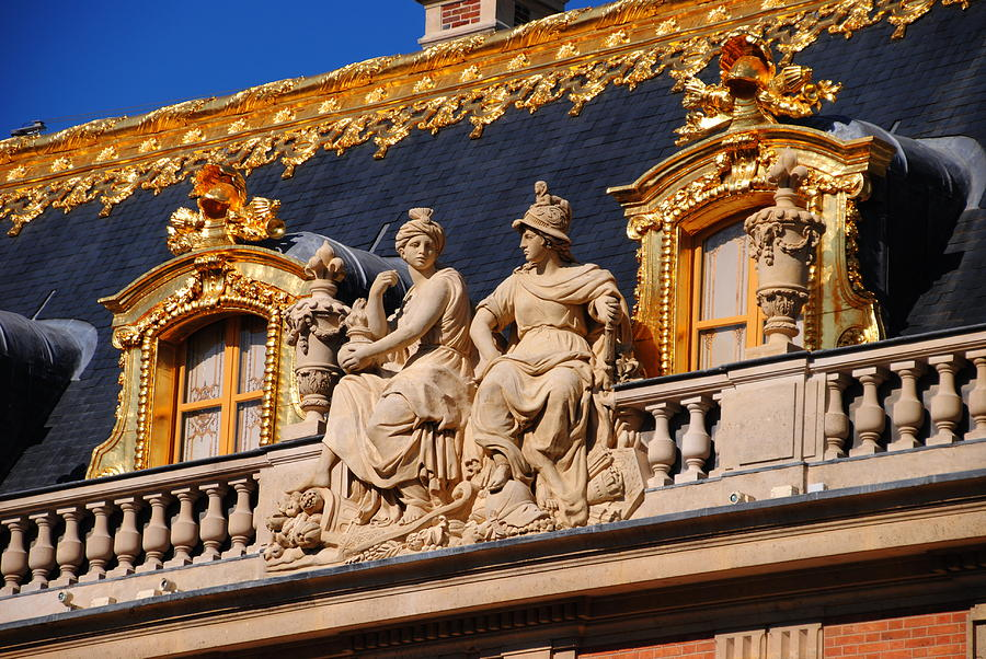 Versailles Photograph - Versailles - Detail by Jacqueline M Lewis