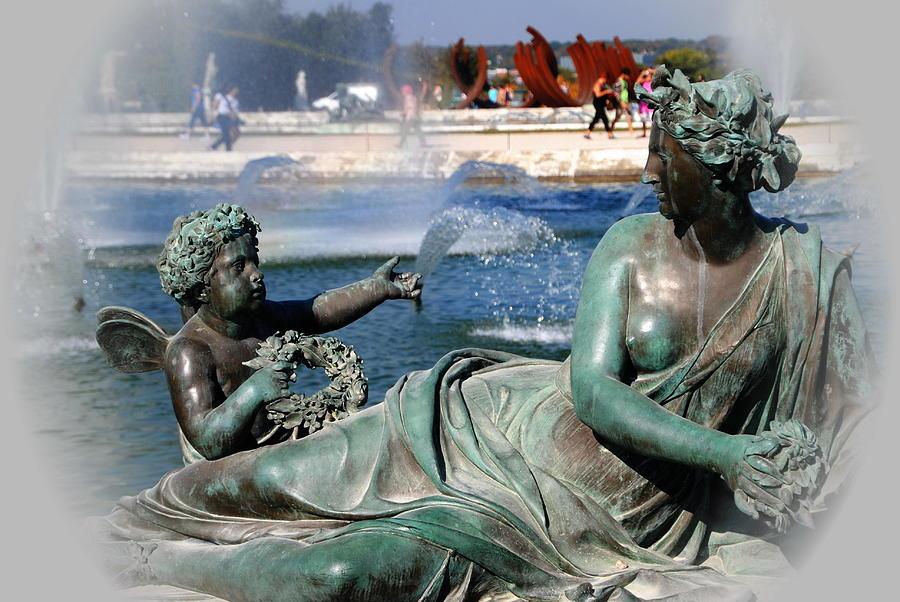 Versailles Fountain Photograph - Versailles Fountain by Jacqueline M Lewis