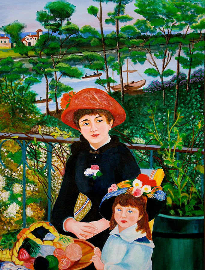 Version Of Renoirs Two Sisters On The Terrace Painting