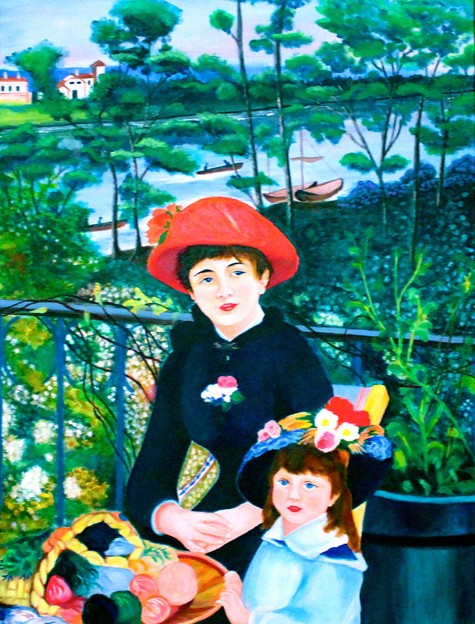 Version of Renoir's Two Sisters on the Terrace by Lorna Maza