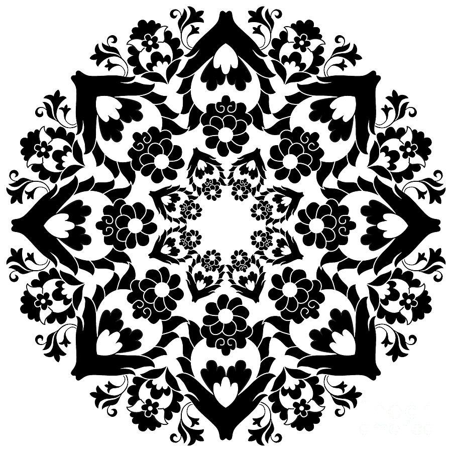 Islamic Digital Art - Versions Of Ottoman Decorative Arts by Antsvgdal