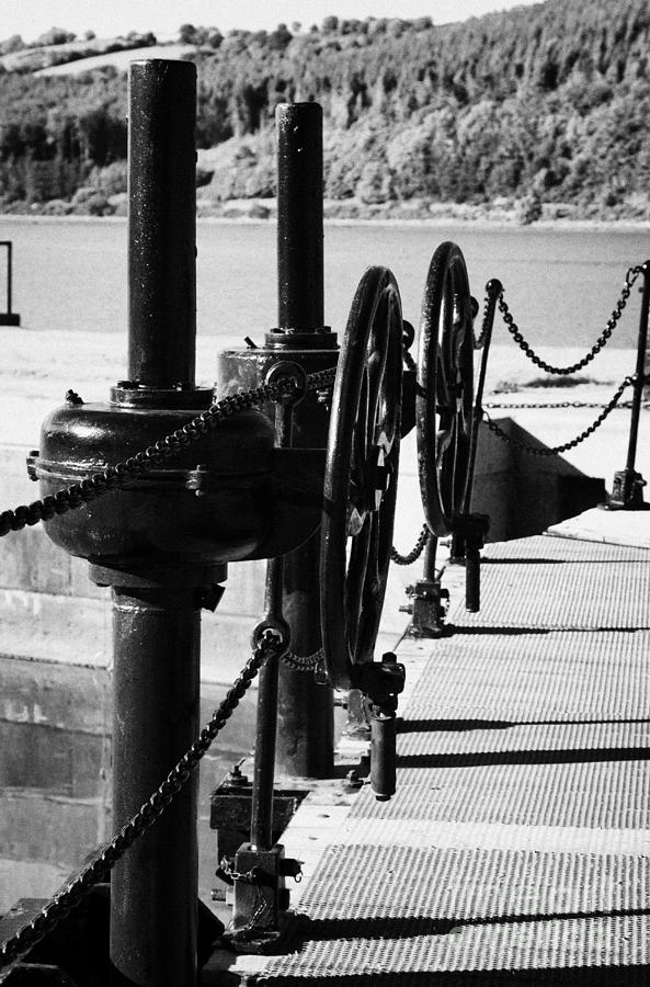 County Photograph - Vertical Newry Ship Canal Lock Gates And Controls At The Newly Refurbished Victoria Lock At Carlingford Lough by Joe Fox