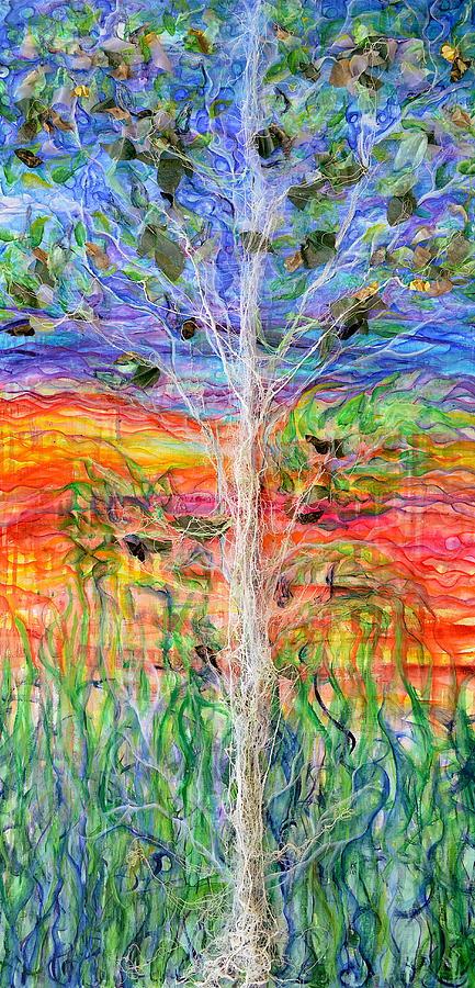 Tree Painting - Vertical Space by Regina Valluzzi