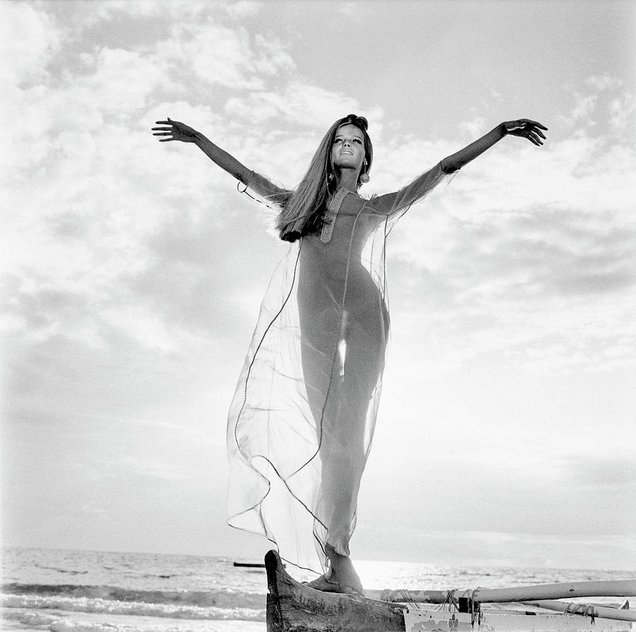 Veruschka Wearing A Bete Collection Nightdress Photograph by Franco Rubartelli